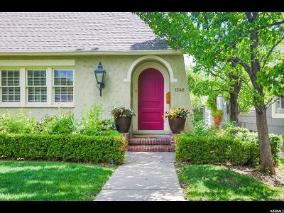 Salt Lake City Single Family Home For Sale: 1246 E Parkway Ave