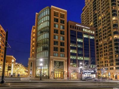 Salt Lake City Condo For Sale: 55 W South Temple St #204