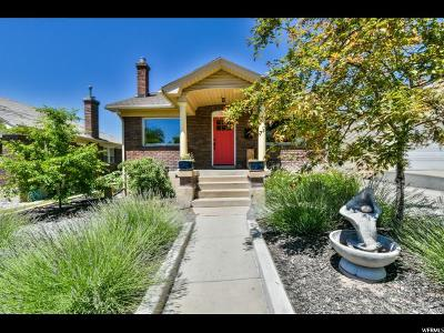 Salt Lake City Single Family Home For Sale: 963 E Lowell Ave