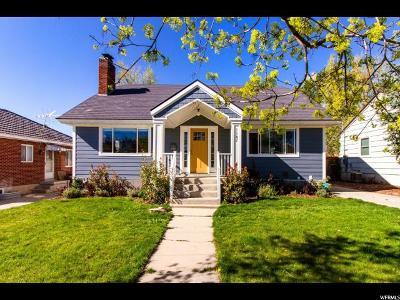 Salt Lake City Single Family Home For Sale: 1187 E Charlton Ave
