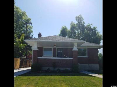 Salt Lake City Single Family Home For Sale: 3545 S 900 E