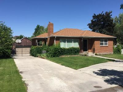 Salt Lake City Single Family Home For Sale: 3050 S Melbourne St