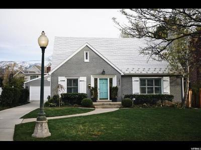Salt Lake City Single Family Home For Sale: 2022 E Laird Dr S