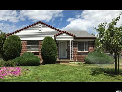 Salt Lake City Single Family Home For Sale: 1571 E 3150 S