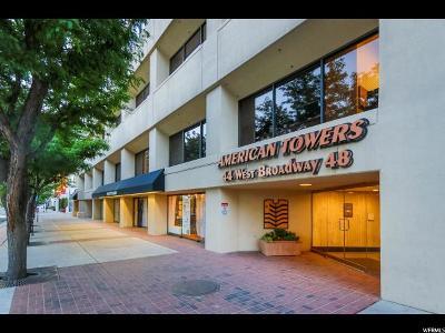 Salt Lake City Condo For Sale: 48 W Broadway #2701