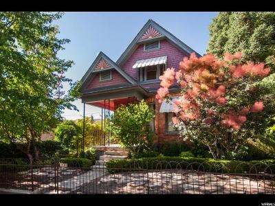 Salt Lake City Single Family Home For Sale: 1209 E Alameda Ave