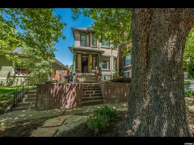 Salt Lake City Single Family Home For Sale: 813 E 1st Ave