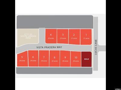 South Jordan Residential Lots & Land For Sale: 3597 W Vista Pradera Way