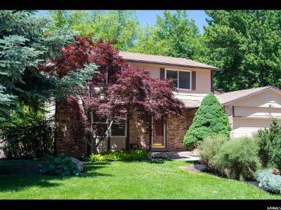 Cottonwood Heights Single Family Home For Sale: 7268 S Macintosh Ln E