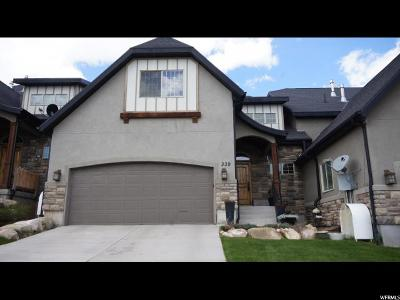 Wasatch County Townhouse For Sale: 339 N 1400 W