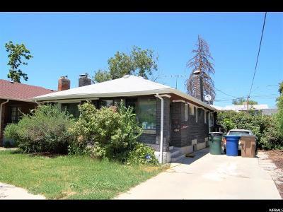 Salt Lake City Single Family Home For Sale: 465 E Coatsville Ave