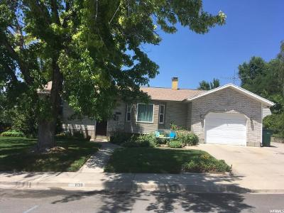Orem Single Family Home For Sale: 1138 W 1240 N
