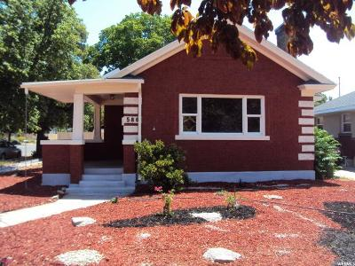 Salt Lake City Single Family Home For Sale: 586 E Browning Ave S