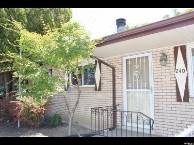 Midvale Single Family Home For Sale: 240 E Fort Union Blvd S