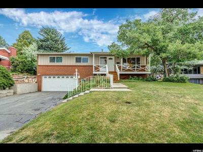 Holladay Single Family Home For Sale: 4373 S 2950 E