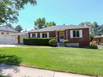 Salt Lake City Single Family Home For Sale: 2464 E Skyline Dr S