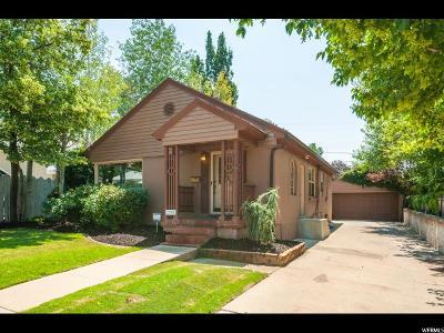 Salt Lake City Single Family Home For Sale: 2380 E 2100 S