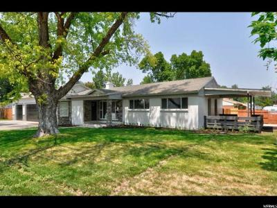 Holladay Single Family Home For Sale: 1801 E Spring Ln S
