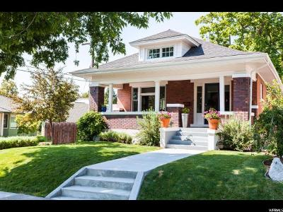 Salt Lake City Single Family Home For Sale: 1419 E Browning Ave