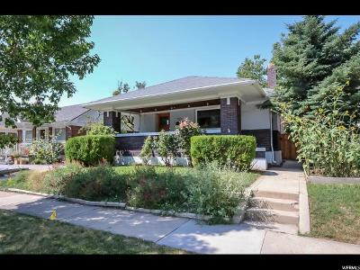 Salt Lake City Single Family Home For Sale: 777 E Kensington Ave S