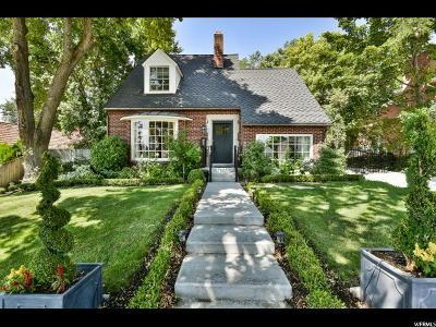 Salt Lake City Single Family Home For Sale: 1311 E Westminster Ave