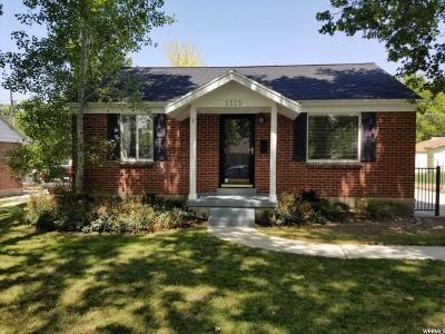 Salt Lake City Single Family Home For Sale: 1515 E Gregson Ave