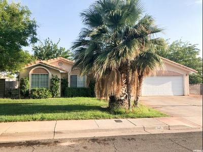 St. George Single Family Home For Sale: 1443 W 320 N