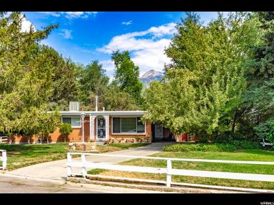 Cottonwood Heights Single Family Home For Sale: 7651 S 2375 E