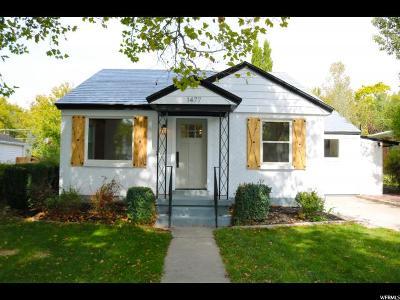 Salt Lake City Single Family Home For Sale: 1477 E 3045 S