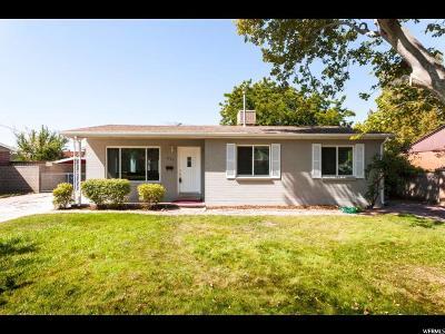 Salt Lake City Single Family Home For Sale: 3800 S 1215 E