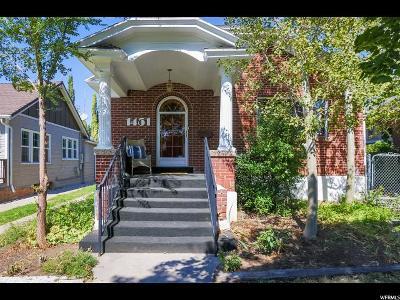 Salt Lake City Single Family Home For Sale: 1451 E Logan Ave
