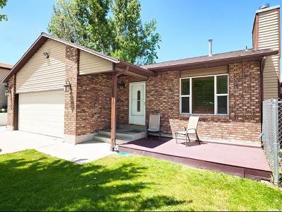 West Jordan Single Family Home For Sale: 5550 W Gloden Gate Cir S
