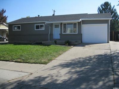 Salt Lake City Single Family Home For Sale: 4915 S 4055 W