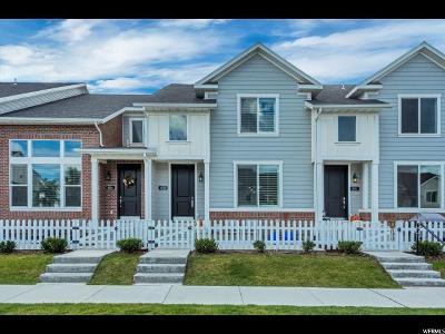 Bluffdale Townhouse For Sale: 1028 W Narrows Ln
