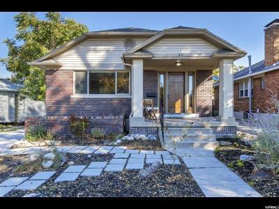 Salt Lake City Single Family Home For Sale: 631 E Garfield Ave