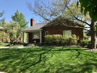 Salt Lake City Single Family Home For Sale: 1838 E Yalecrest Ave S