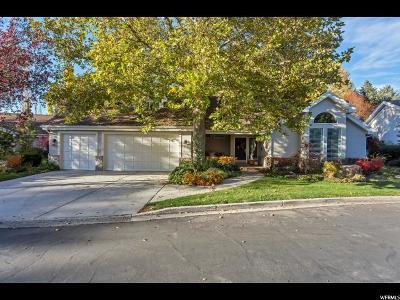 Holladay Single Family Home For Sale: 5022 S Casto Cir. E