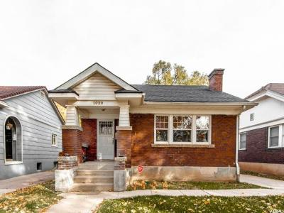 Salt Lake City Single Family Home For Sale: 1029 S McClelland St E