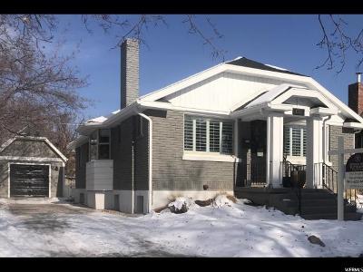 Salt Lake City Single Family Home For Sale: 1721 E Garfield Ave