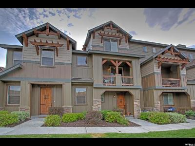 Wasatch County Townhouse For Sale: 13384 N Alexis Dr