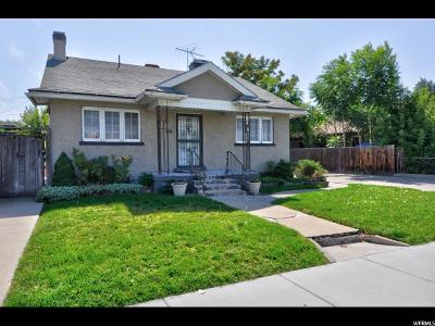 Salt Lake City Single Family Home For Sale: 562 E 1700 S