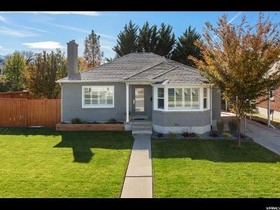 Salt Lake City Single Family Home For Sale: 1760 E Horne St