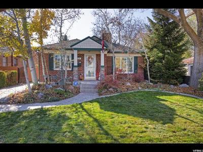 Salt Lake City Single Family Home For Sale: 1758 E 2100 S