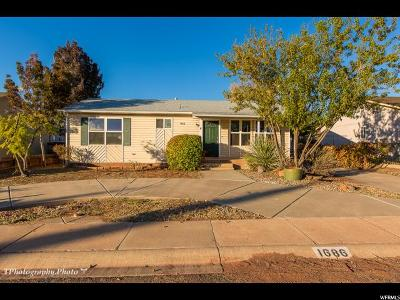 St. George Single Family Home For Sale: 1686 W 1300 N