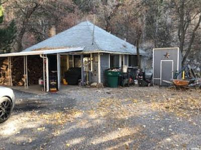 Weber County Single Family Home For Sale: 220 Ogden Canyon Rd