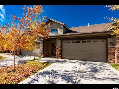 Wasatch County Townhouse For Sale: 14189 N Council Fire Trl