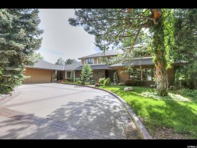 Salt Lake City Single Family Home For Sale: 3646 S Hillside Ln