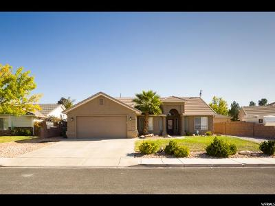 St. George Single Family Home For Sale: 1296 N 1480 Cir W