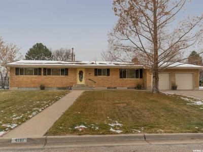 Weber County Single Family Home For Sale: 4191 E Edgehill Dr