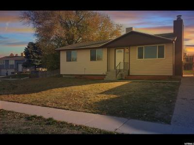 Salt Lake County Single Family Home For Sale: 6275 W 3705 S